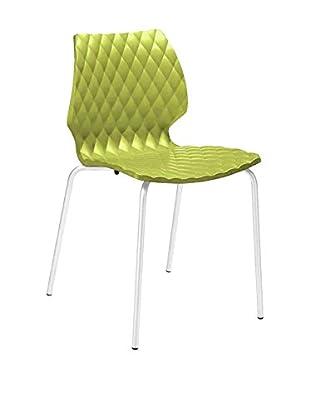 Metalmobil Stuhl 4er Set Uni-550 grün/weiß