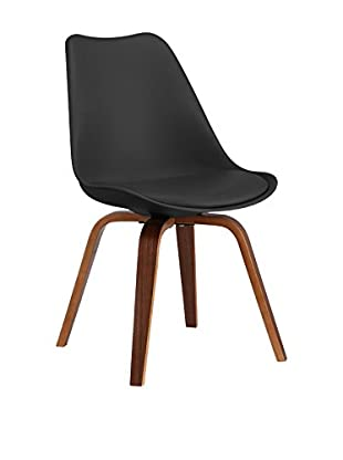 LO+DEMODA Set Silla 2 Uds. Cross Plywood Negro