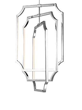 Feiss 6-Light Audrie Chandelier, Polished Nickel