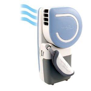 ハンディクーラー!(青) 2011新製品 冷たい空気が流れます。電池またはUSBで使用可能。