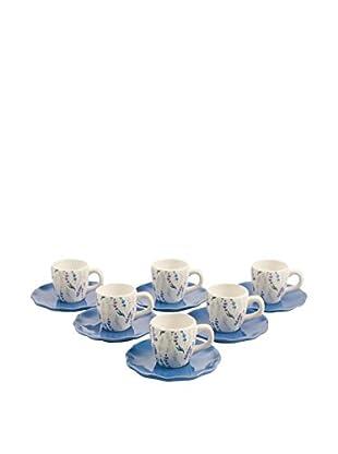 Galileo Set Taza De Cafécon Plato 6 Uds. Lavanda