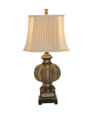 Polystone Table Lamp, Green