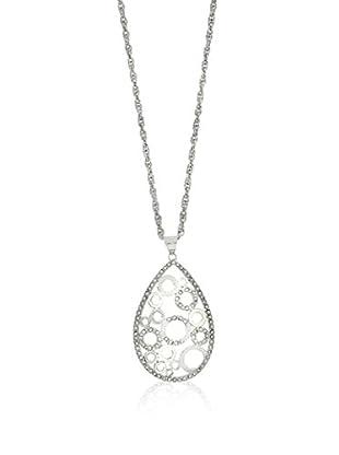 Shiny Cristal Halskette  rhodiniertes Silber 925
