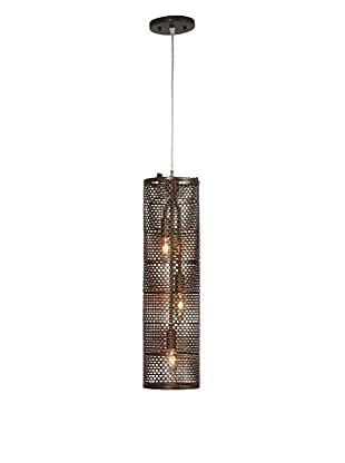 Varaluz Lit-Mesh Test 3-Light Foyer Pendant, New Bronze