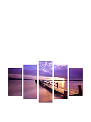 LO+DEMODA Leinwandbild 5 tlg. Set Pier Night
