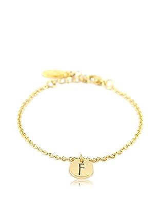 Ettika 18K Gold-Plated F Initial Chain Bracelet