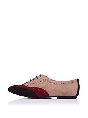 Bisue Zapatos Oxford Cordones (Beige)