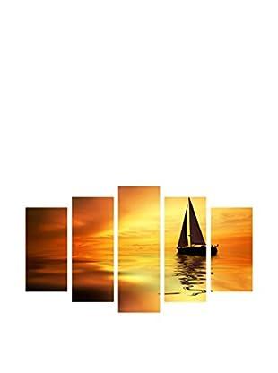 LO+DEMODA Leinwandbild 5 tlg. Set Relax Boat