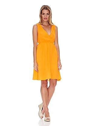 Lavand Vestido Cruzado (Naranja)