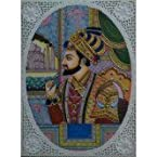 Mandi Rajasthani Painting of Mughal King- Work of Miniature art on bone