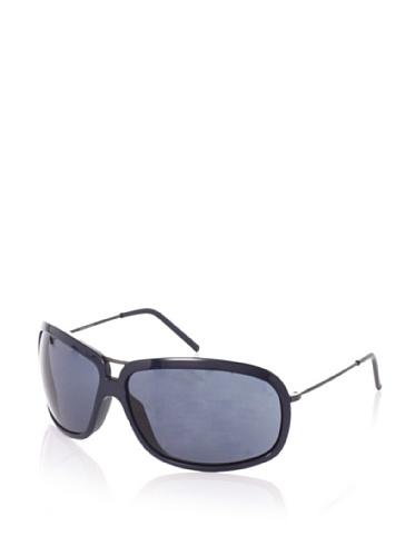 Giorgio Armani Women's Wrap Aviator Sunglasses (Dark Antique/Dark Blue)