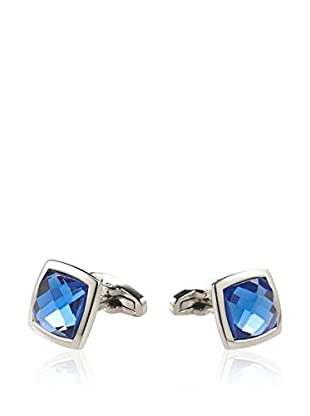 Blackjack Jewelry Manschettenknopf Blue Crystal Square