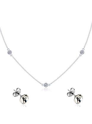 Diamond Style Set Collier und Ohrringe Dew Drop Studs