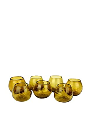 Uptown Down Previously Owned Set of 7 Hand Blown Glasses