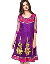 Purple Colored Ethnic Wear Stylish Embroidered Kurti by Akyra