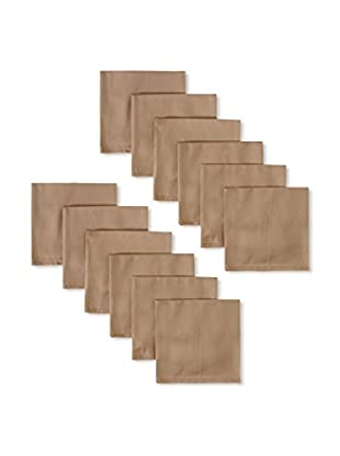 Garnier-Thiebaut Set of 12 Confetti Napkins, Noisette