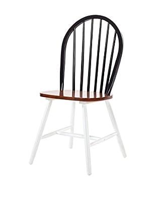 13 Casa Stuhl 2er Set Portofino schwarz/braun/weiß