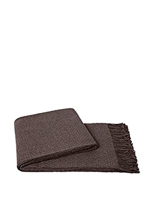 a & R Cashmere Cashmere & Wool Blend Basketweave Throw, Sand