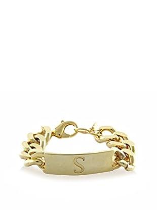 Ettika 18K Gold-Plated S Initial ID Bracelet