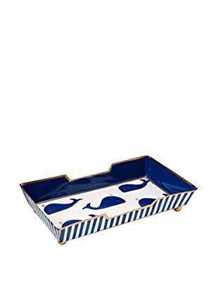 Malabar Bay Whales Navy Guest Towel Tray, Blue