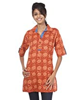 Rajrang Cotton Kurti - PTP00014 (Orange)