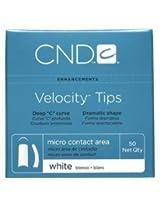 Creative Nail Tips Velocity False Nails, White No.6