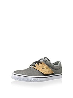 PUMA Men's EL Ace Classic Sneaker (Black/Limestone Gray)