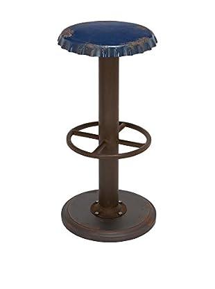 UMA Wood & Metal Stool, Blue