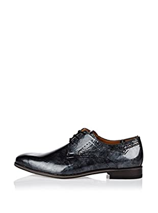 Fretz Men Zapatos Derby Kingston (Negro)