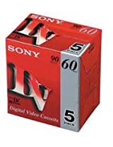 SONY MINIDV DVM60 5PACK DIGITAL VIDEO CASSETTE 60min