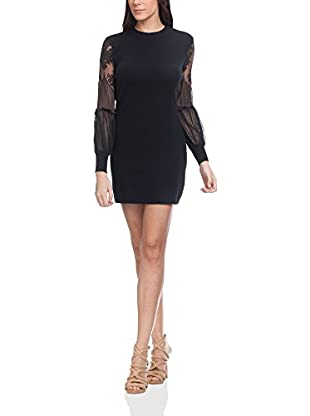 Tantra Kleid Knitted With Lace Sleeves