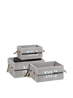 Nordic Style Set Caja de Almacenamiento 3 Uds.