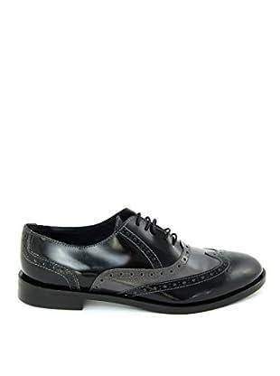 Bluetag Zapatos Oxford Shrikes (Negro / Gris)