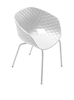 Metalmobil Sessel 2er Set Unika-594 weiß/weiß
