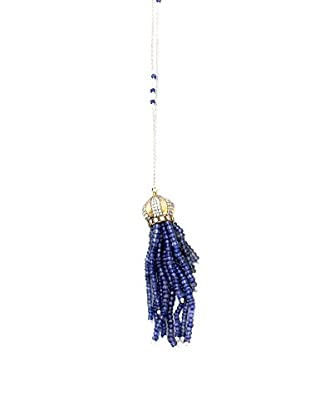Tassel Necklace, Indigo