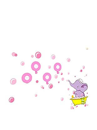 LO+DEMODA Wandtattoo Happy Wash Elephant