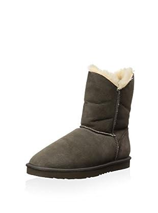 Koolaburra Women's Double Halo Short Short Asymmetrical Shaft Boot (Cappuccino)