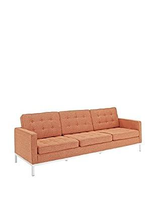 Modway Loft Sofa (Orange Tweed Wool)