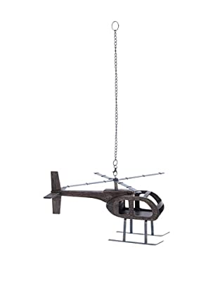 Suspended Helicopter Model with Wooden Frame
