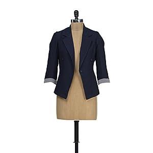 Hermosear Women's Blazer - Navy Blue