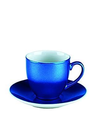 Tognana  Kaffeetasse mit Untertasse 6er Set Bellavis blau