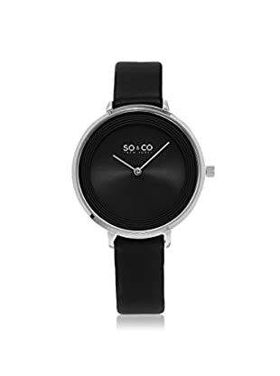 SO&CO Women's 5204L.1 Madison Black Leather Watch