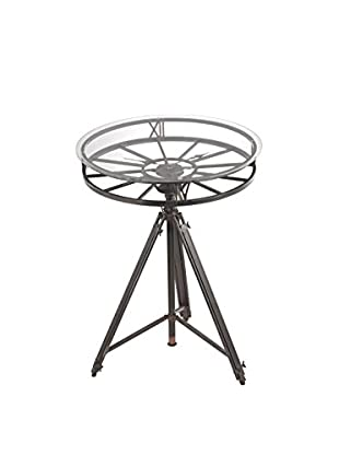 Artistic Lighting Tripod Clock Table, Black