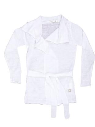 Naf Naf Chevignon Cárdigan Cinturón (blanco)