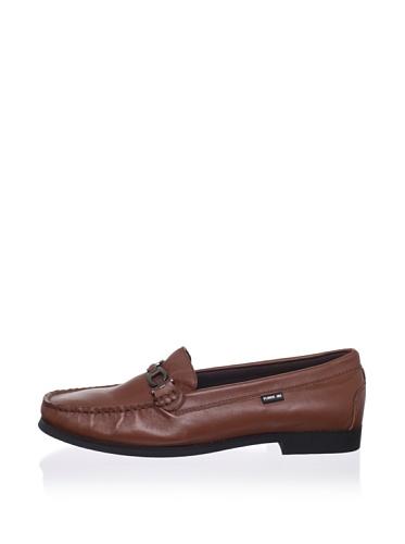 Pliner Jrs Oliver Loafer (Brown Leather)