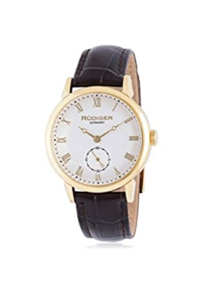 Rudiger Men's R3000-02-001L Leipzig Analog Display Quartz Brown Watch