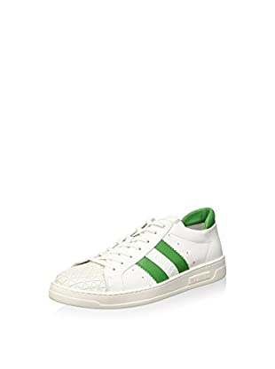 Bikkembergs Bounce 588 L.Shoe M Leather Scarpe Low-Top, Uomo, Bianco (White/Green), 44