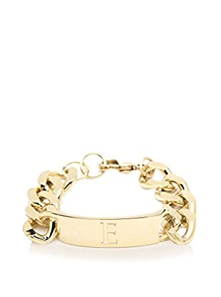 Ettika 18K Gold-Plated E Initial ID Bracelet