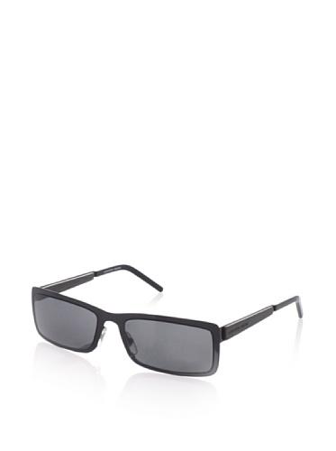 Alexander McQueen Women's AMQ 4131 Rectangular Sunglasses, Shiny Black