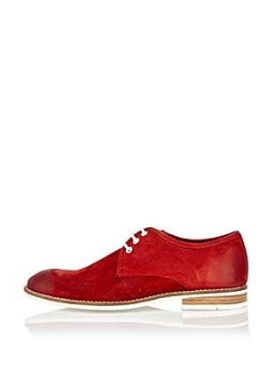 Buffalo London Zapatos Clásicos Perla (Rojo)